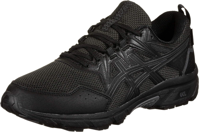 Asics 1011A825-001_49, Zapatos para Correr Hombre, Black, EU