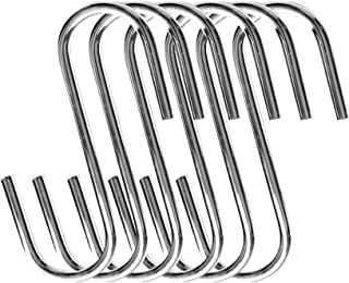 Cooks Standard 4-Inch/10cm Steel S Shaped Pot Rack Hooks, Set of 6