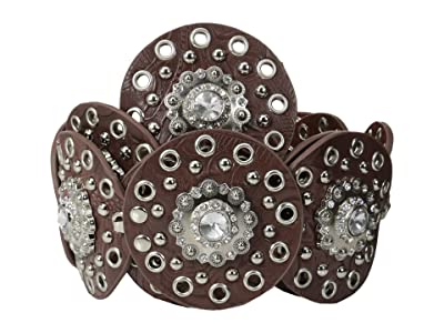 M&F Western Nocona Wide Concho Disk Belt (Brown) Women