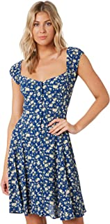 Rollas Women's Erin Rambling Rose Dress Blue