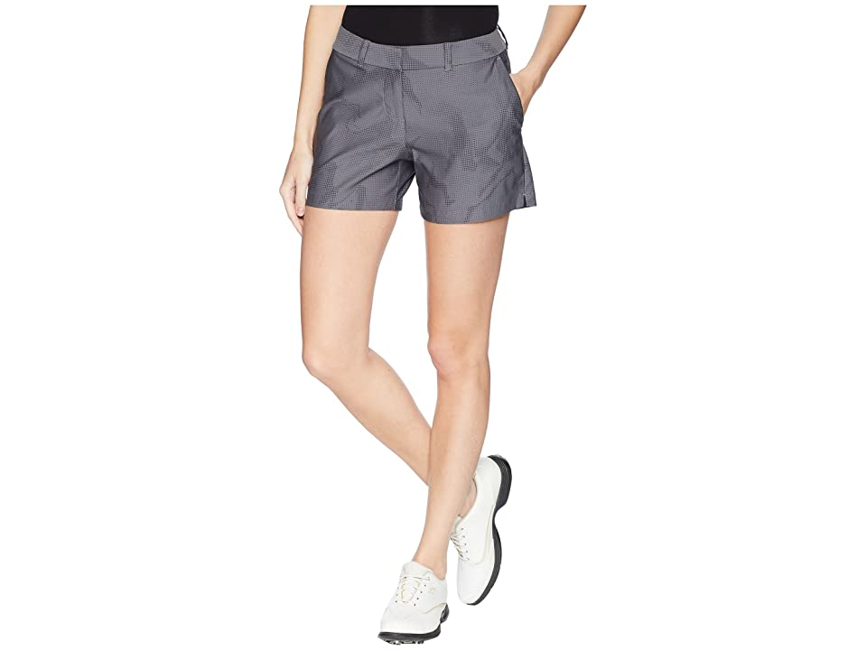 Nike Golf Woven 4.5 Sub Print Flex Shorts (Dark Grey/Black/Black) Women