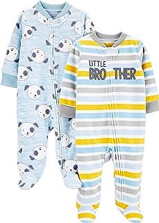 خوابهای ساده و ساده و شاد توسط کارتر's Baby Boys 'Fleece 2-Pack Fleece Sleep and Play