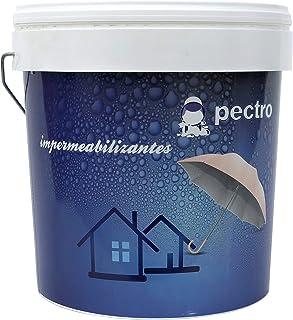Pintura impermeabilizante PECTRO 5 KG - Pintura antihumedad para terrazas y cubiertas (Blanco)… (Gris)