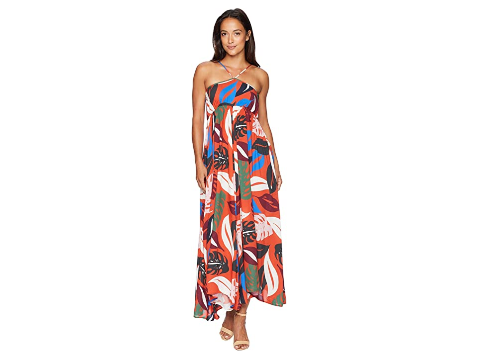 Rachel Pally Reverse Crepe Eli Dress (Leaf) Women