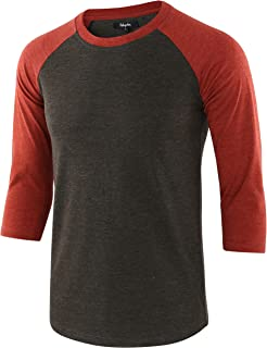 Men's Casual Basic Vintage 3/4 Raglan Sleeve Jersey Baseball Tee Shirt