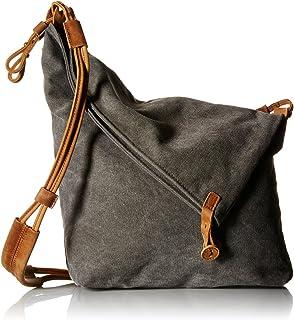Tom Clovers Fashion Canvas Segeltuch Umhängetasche Messenger Tasche Schultertasche Handtasche Reisetasche Grau