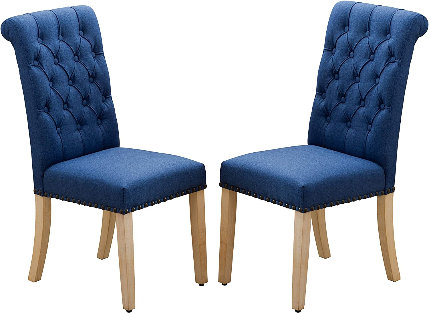 Luxuriour 人気 Fabric Dining Chairs Tufted 新色追加 Back with Chair Coppe High