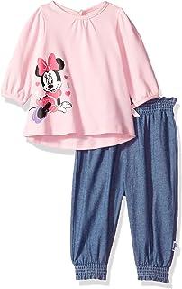 Disney Baby Minnie Mouse - Pantalón de 2 Piezas para niña