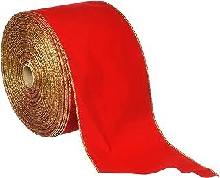 Homeford FR0092270W06525K Velvet Christmas Ribbon Wired Edge, 6