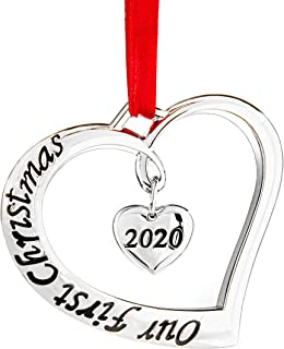 Best Klikel Our First Christmas Ornament 2020 - First Christmas Married Ornament 2020 - Just Married Heart 2020 Ornaments - First Christmas Engagement Ornament 2020 Review