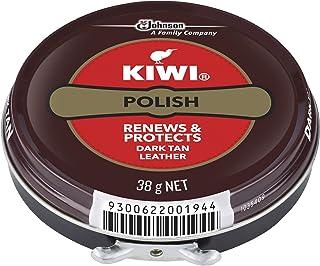 KIWI Polish, Renews & Protects Leather Shoes, Dark Tan, 38 g