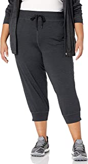 Amazon Essentials - Plus Size Brushed Tech Stretch Crop Jogger, Pants Donna