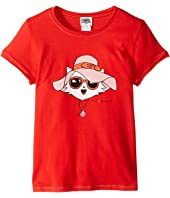 Karl Lagerfeld Kids - Short Sleeve Tee w/ Choupette Print & Gold Lurex Stitch (Little Kids)