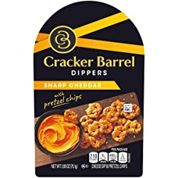Cracker Barrel Dippers Sharp Cheddar Cheese Dip with Pretzels (2.65 oz Tray)