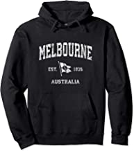 Melbourne Australia Vintage Nautical Boat Anchor Flag Sports Pullover Hoodie