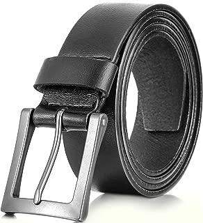 Marino Mens Leather Belt, Classic Jean Belts For Men, 1.5 Inch Wide