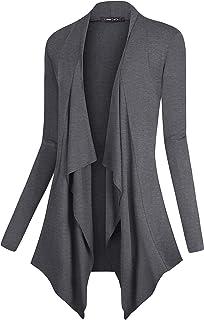 Urban CoCo Women s Drape Front Open Cardigan Long Sleeve Irregular Hem b8a9ed936