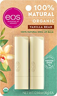 eos USDA Organic Lip Balm - Vanilla Bean | Lip Care to Moisturize Dry Lips | 100% Natural and Gluten Free | Long Lasting H...