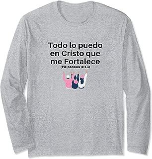 Filipenses 4:13 Cristo es mi Fortaleza Long Sleeve T-Shirt