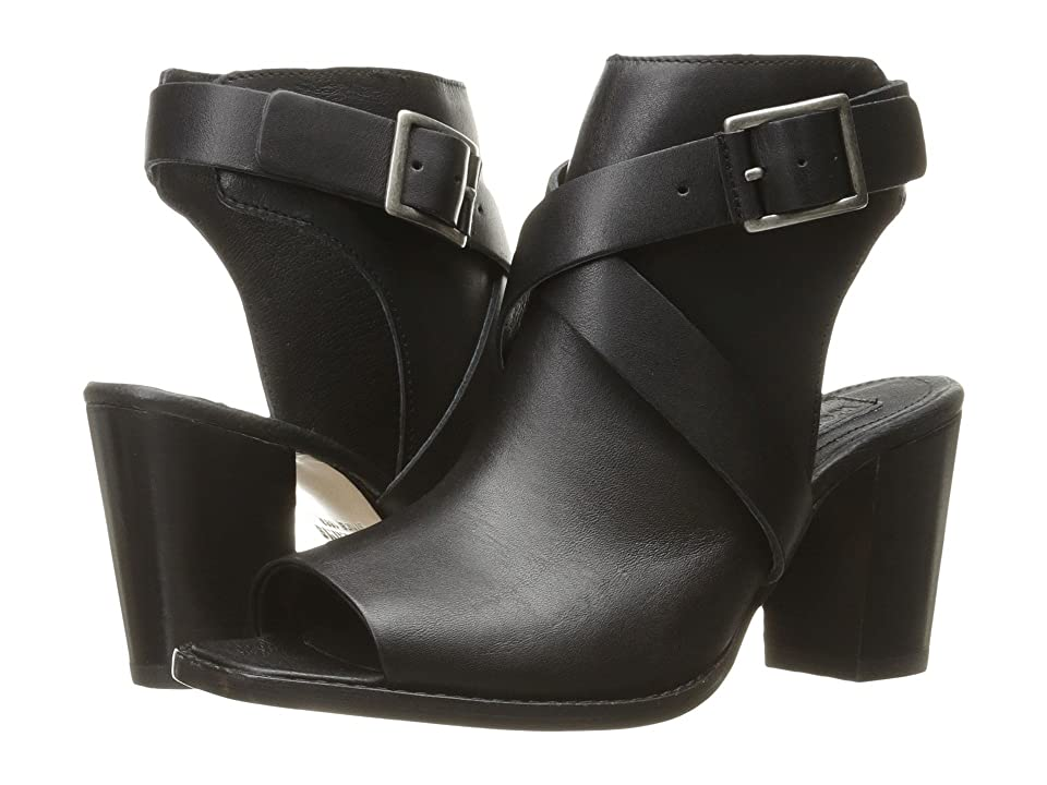 Wolverine Piper Open Toe Boot (Black Leather) High Heels