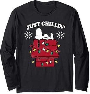 Snoopy Dog House Chillin Christmas Long Sleeve