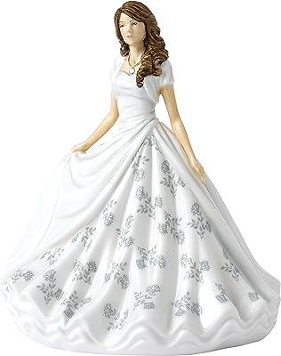 "Royal Doulton Birthstone Petites April, Diamond HN 5900 Collectible Figurine, 7"", Silver and White"