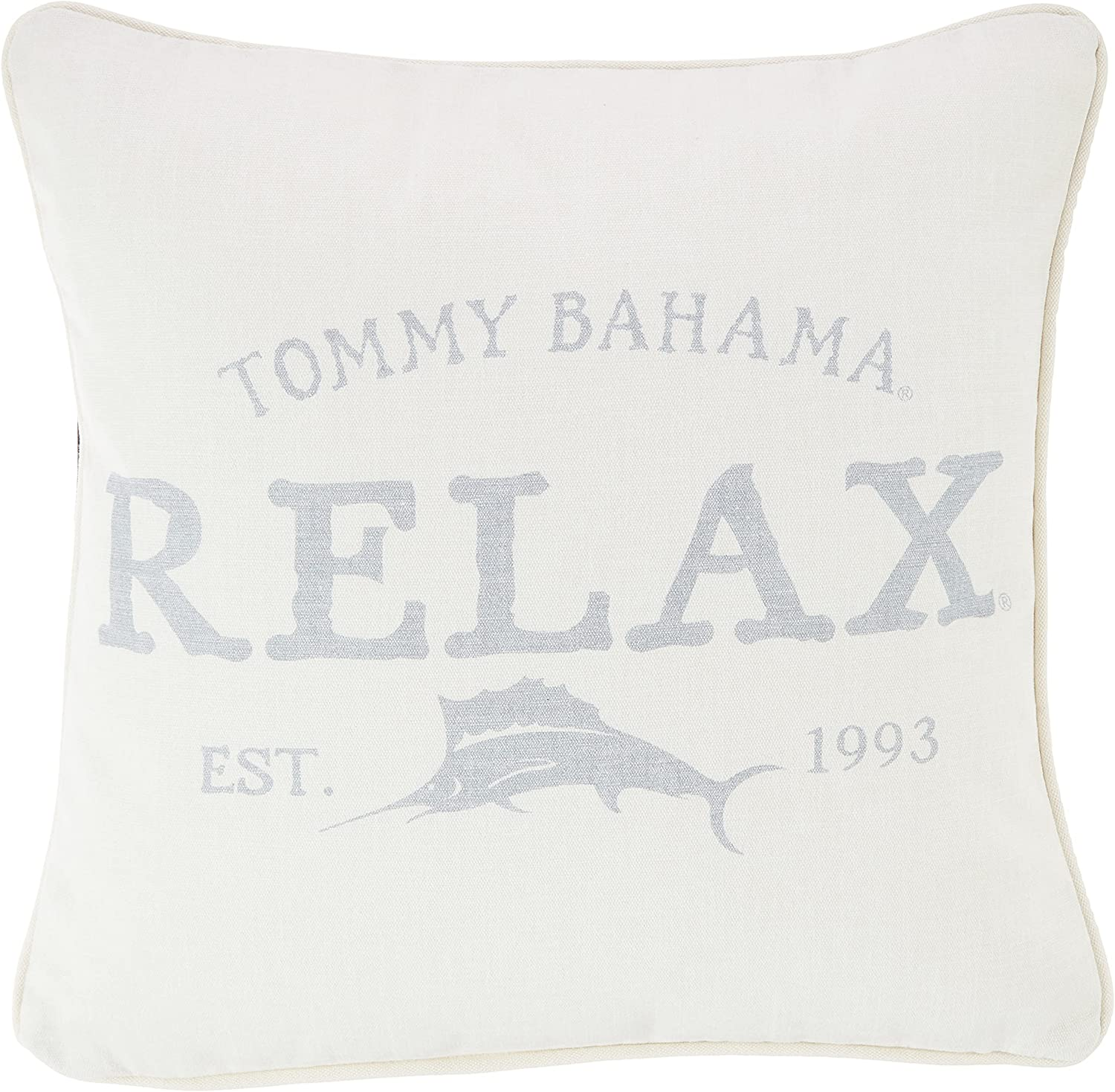 Tommy Seattle Mall Bahama Relax Throw 18x18 Pillow New Shipping Free Shipping Grey
