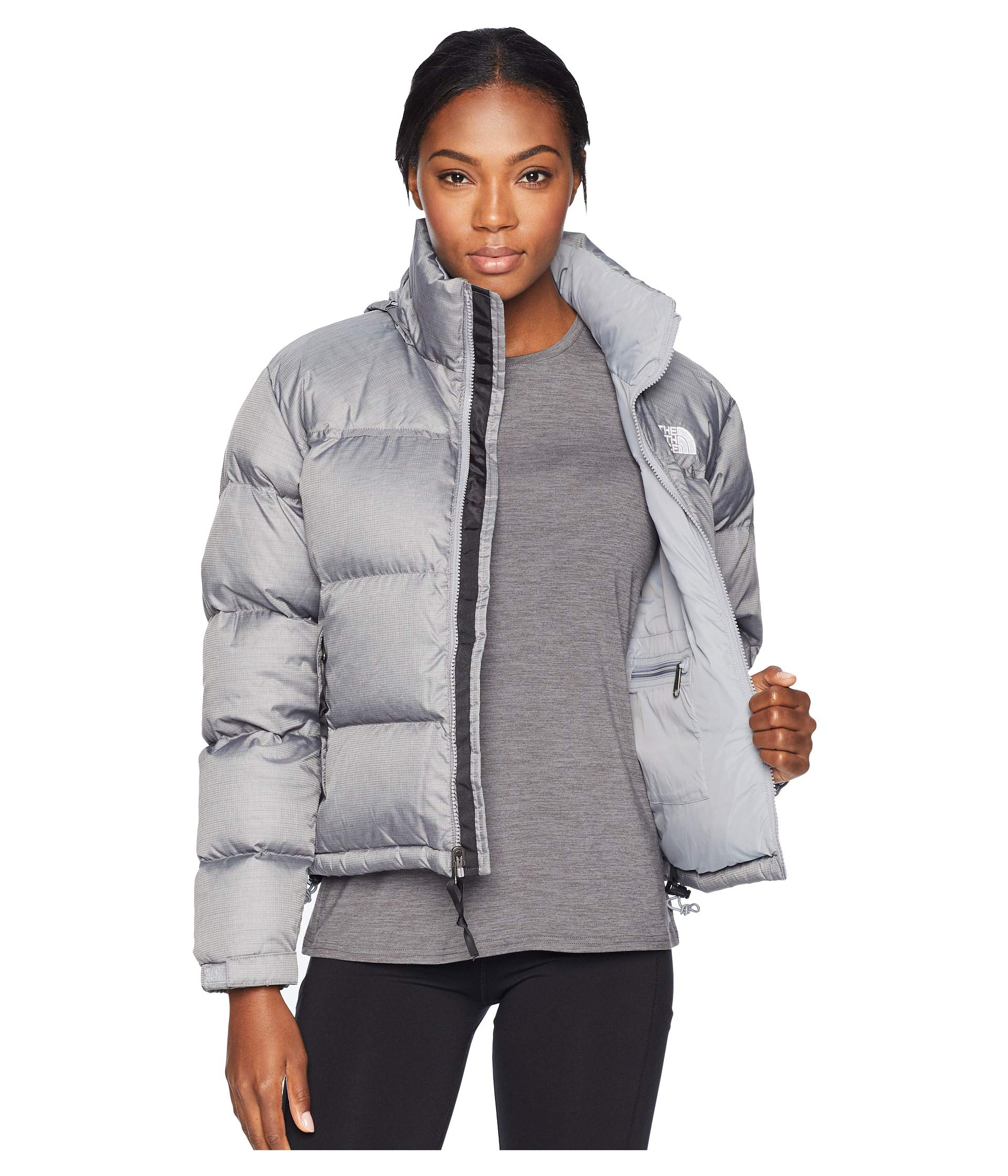 1996 The North Retro Heather Face Tnf Jacket Nuptse Medium Grey 4xEwxHqdr
