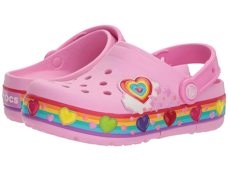Crocs Kids Crocband Fun Lab Lights Clog (Toddler/Little Kid) (Carnation) Kids Shoes