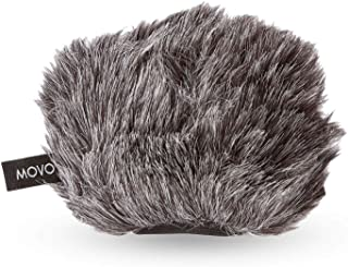 Movo WS-G9 Furry Outdoor Microphone Windscreen Muff for...