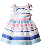 Nanette Lepore Kids - Stripe Organza Dress (Infant)