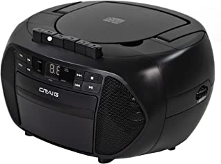 Craig CD6951 Portable Top-Loading CD Boombox with AM/FM Stereo Radio and Cassette..