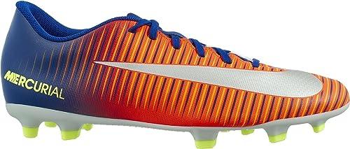 NIKE Mercurial Vortex III FG Soccer Cleats (9.5, azul rojo)