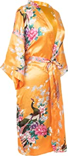 CCcollections Kimono Robe Long 16 Colours Premium Peacock Bridesmaid Bridal Shower Womens Gift