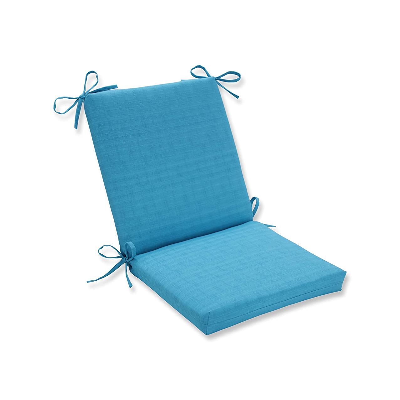 Pillow Perfect Outdoor Veranda Turquoise Squared Corners Chair Cushion