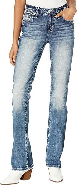 Americana Blowout X-Shaped Flap Pocket Chloe Boot in Medium Blue