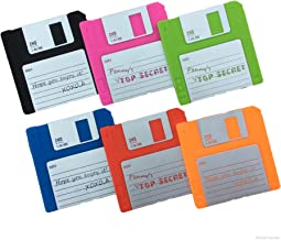 Set of 6 Labelled Retro Floppy Disk Silicone Bar Drink Coaster 3.5 Diskette Novelty Design Non-slip …