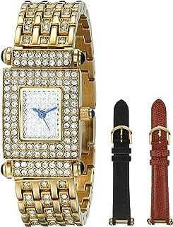 ساعة بيجو بسوار قابل للتبديل كريستال باف