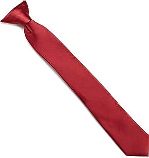 Neckwear Big Boys' Solid Clip Tie