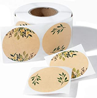 "(500pc/Roll) 2"" Label Stickers for Jars and Lids -(Floral Color)- Mason Jar Labels 