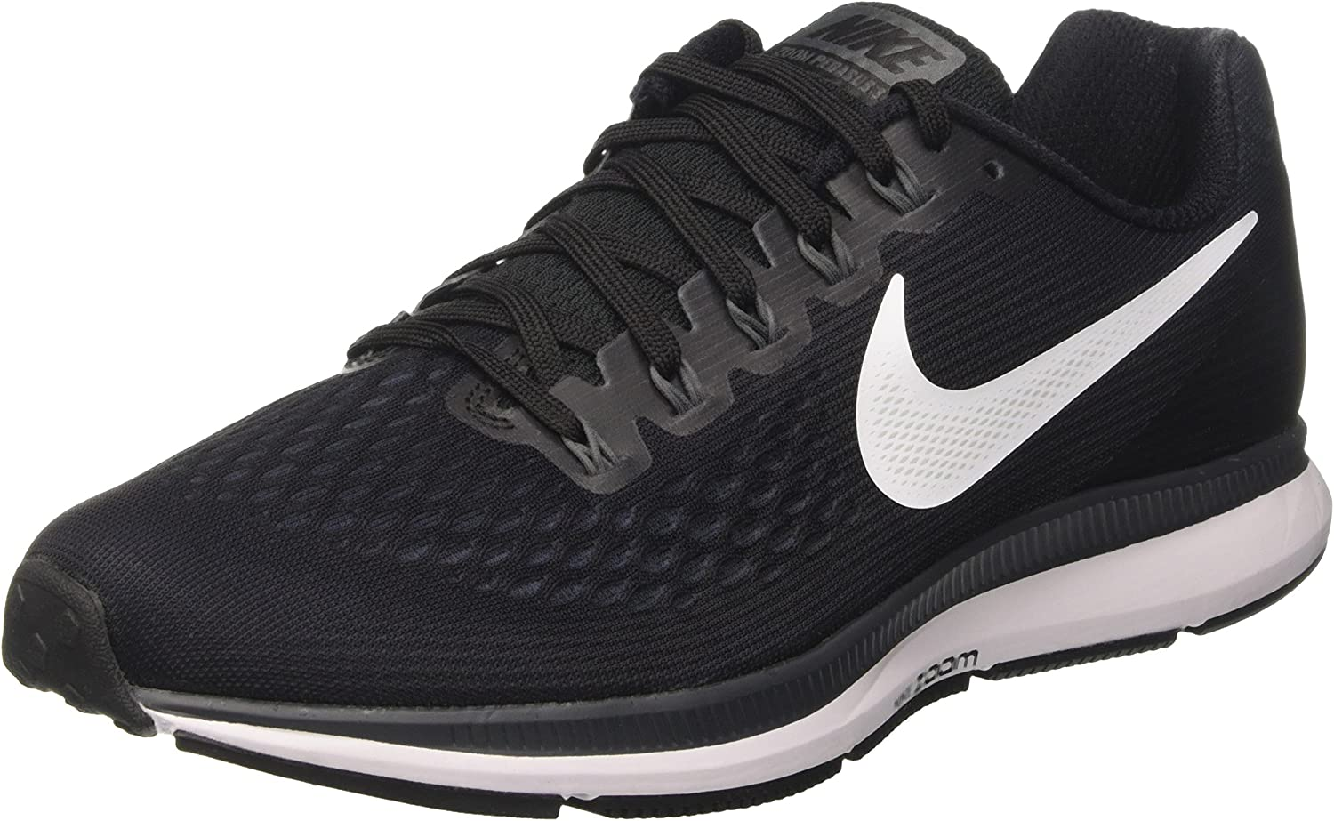 Nike Men's Air Zoom Pegasus 34, BLACK WHITE-DARK GREY