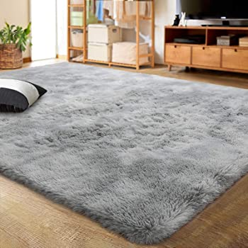 Fluffy Anti Skid Roga Shaggy Rug Dining Room Bedroom Carpet Washable Floor Mat Sisal Seagrass Area Rugs Area Rugs