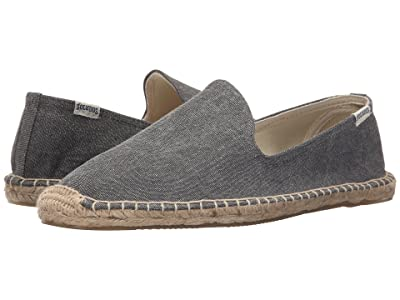 Soludos Smoking Slipper (Washed Canvas Dark Gray) Men