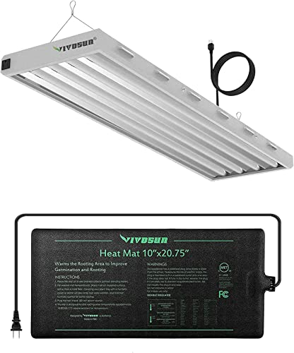wholesale VIVOSUN Durable Waterproof Seedling Heat Mat new arrival with 6500K 4FT T5 HO Fluorescent Grow Light Fixture with 4 Bulbs, for outlet sale Indoor Plants outlet online sale