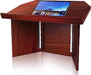 Foldable Desktop Lectern Podium Stand-Portable Folding Tabletop Desk Teacher Speaker Lecture Classroom Presentation Stand,...