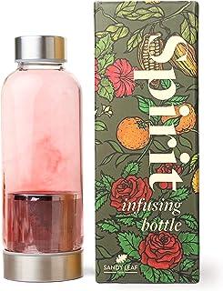 Botella de infusión Spirit de Sandy Leaf Farm – Botella de infusión de vidrio de borosilicato de calidad de laboratorio co...