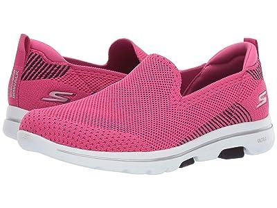 SKECHERS Performance Go Walk 5 Prized (Pink/Black) Women