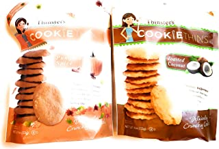 Mrs Thinsters Cookie Thins Toasted Coconut | Cookie Thins Pumpkin Spice BUNDLE 4 OZ EACH