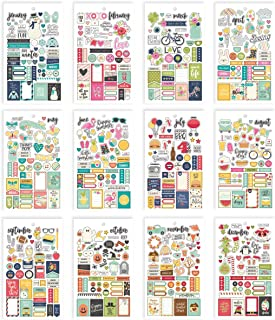 Simple Stories 7983 Planner Essentials Mini autocollants Multicolore