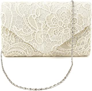 Ladies Lace Floral Prom Evening Clutch Women Bag Wedding Shoulder Handbag Purse